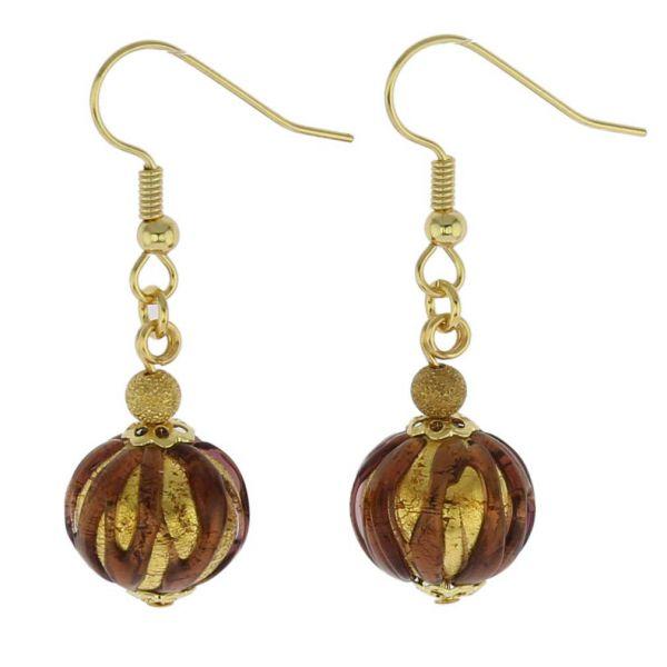 Royal Purple Ball Earrings