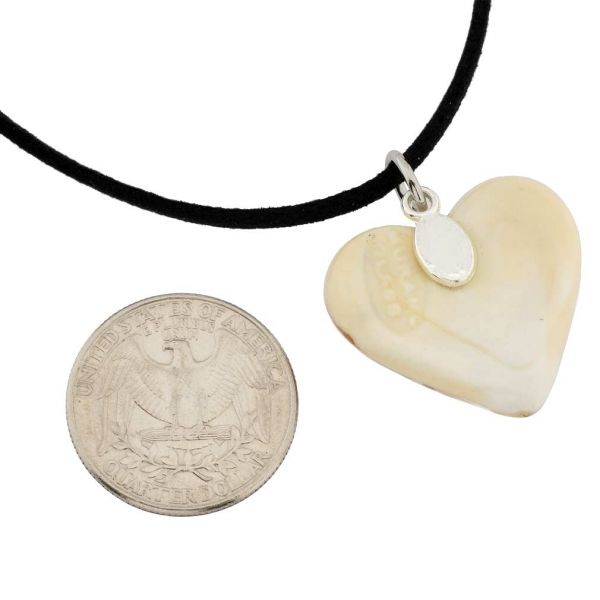 Cognac Heart Necklace