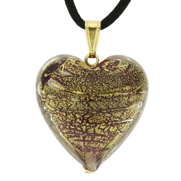 Heart Pendant Ca D\'Oro - Purple