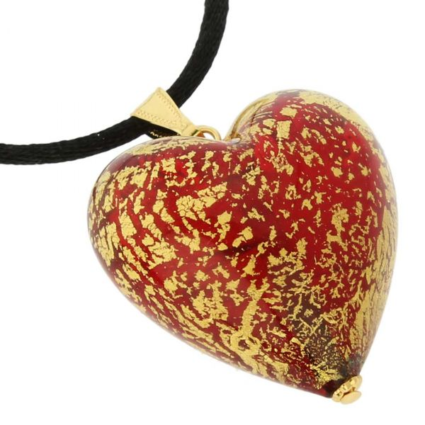 Heart Pendant Ca D\'Oro - Ruby Red