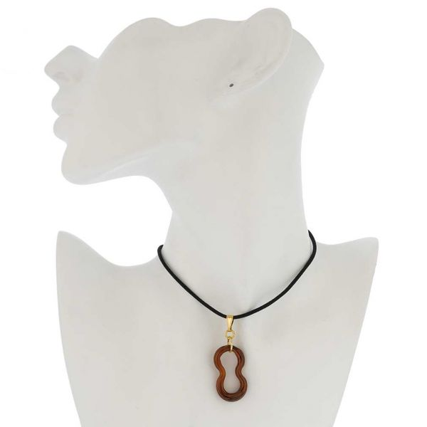Infinity Pendant - Golden Brown