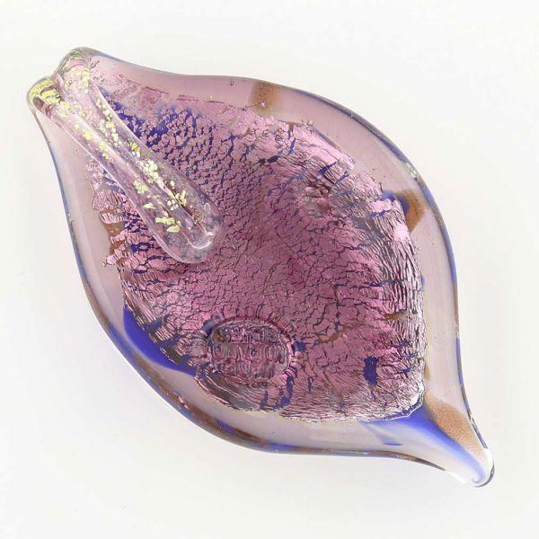 Leaf in Swirls Pendant - Light Purple
