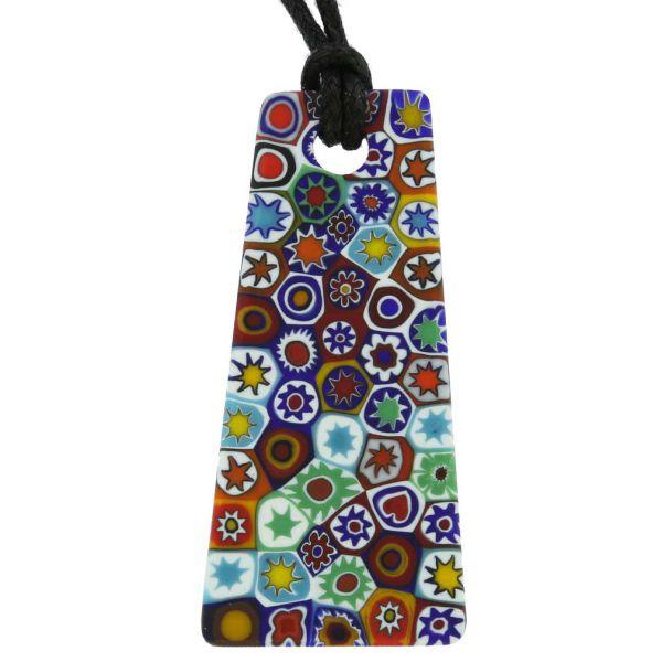 Matte Millefiori Necklace - Multicolor