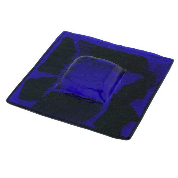 Murano Glass Square Decorative Plate - Blue
