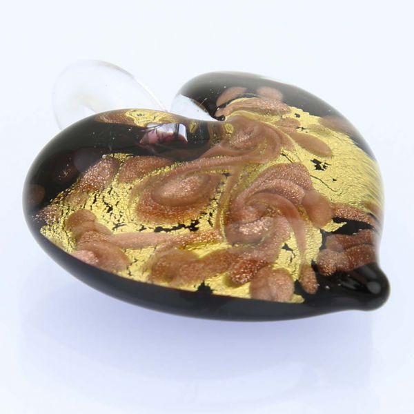 Tender Heart Pendant - Gold Swirl