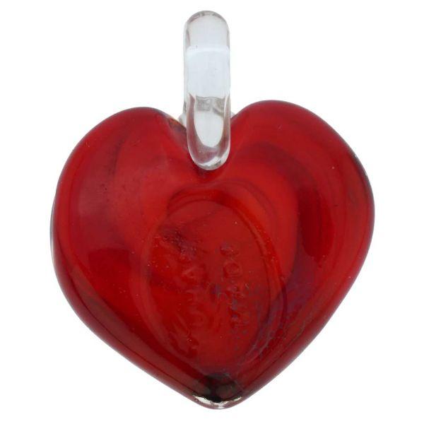 Tender Heart Pendant - Gold Swirls