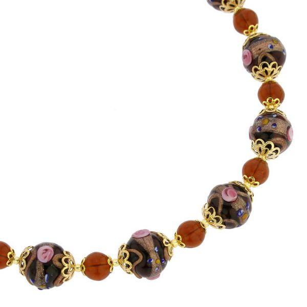 Necklace Venezia - Golden Brown