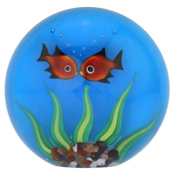 Murano Glass Aquarium With Goldfish