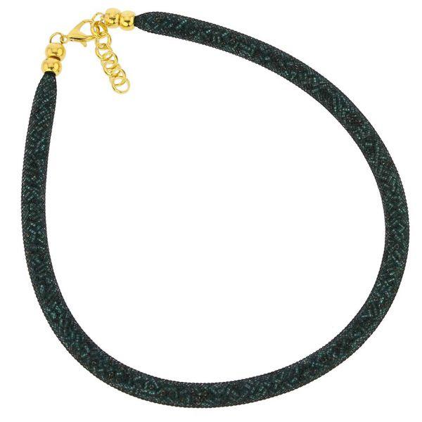 Murano Necklace Eleganza - Emerald Green