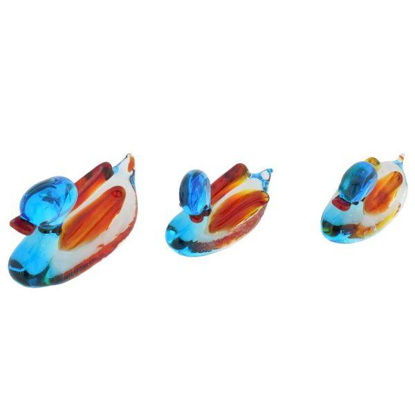 Murano Glass Duck Family