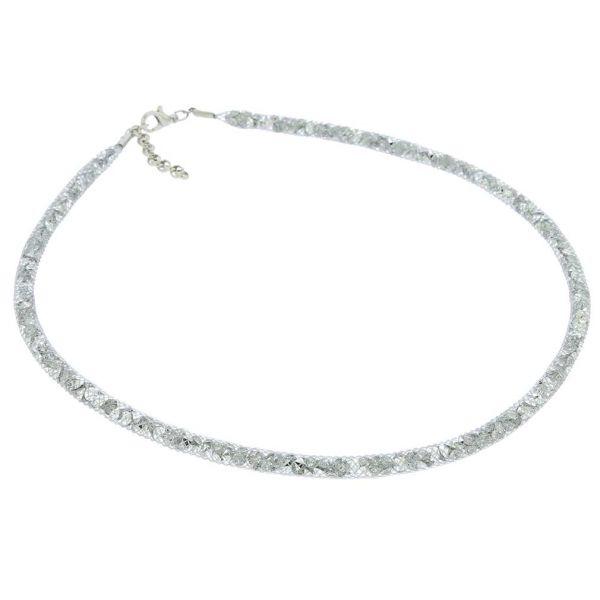 Thin Murano Necklace Eleganza - Silver