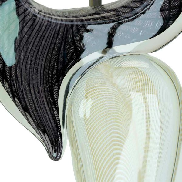 """Vintage Murano Glass Sculpture \""""Yin And Yang\"""" by Adriano Dalla Valentina"""