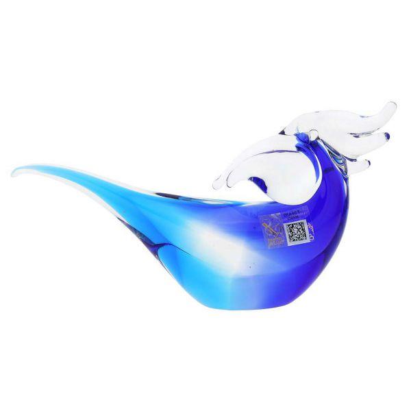 Murano Glass Toucan - Aqua Blue