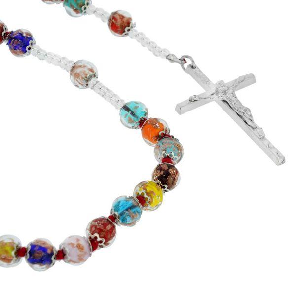 Murano Glass Sommerso Italian Rosary
