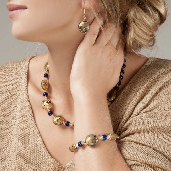 Ca D\'Oro Earrings - Cobalt Blue