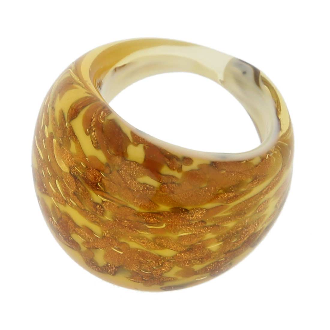 Avventurina Honey Ring In Domed Design