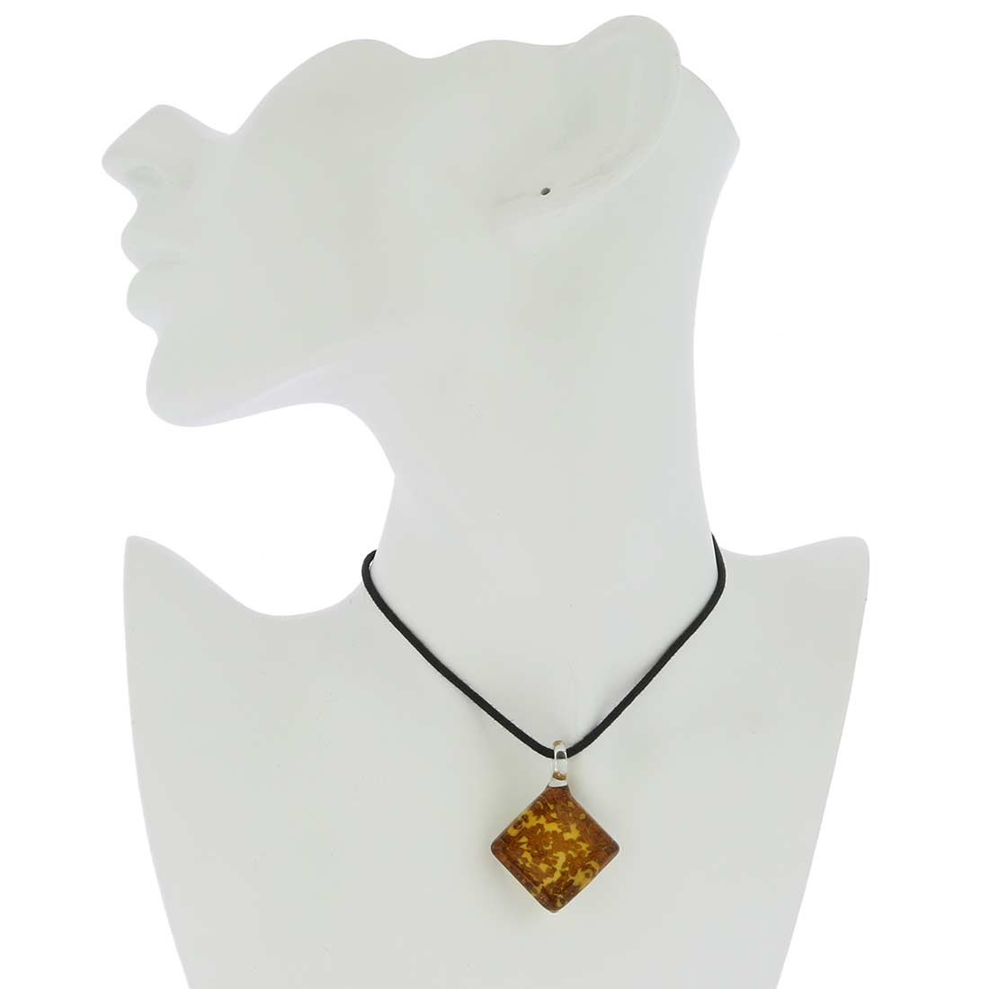 Avventurina Honey Square Pendant
