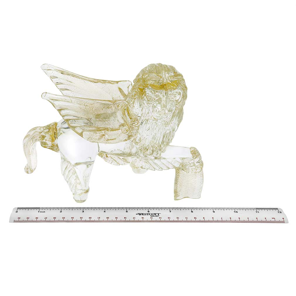 Murano Glass Winged Lion of St. Mark - Sparkling Gold