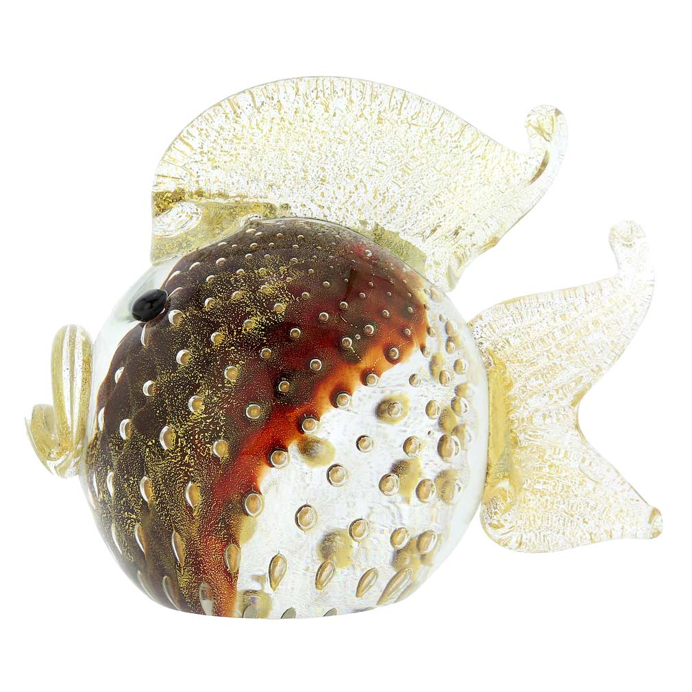 Murano Glass Bullicante Fish - Red
