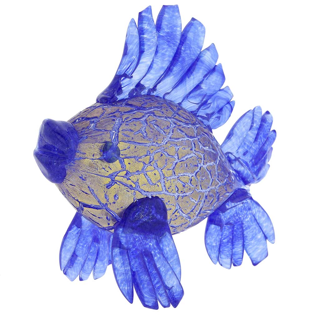 Murano Glass Blue Tropical Fish