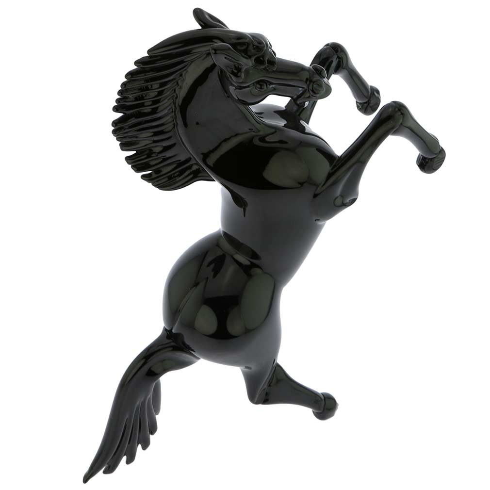 Murano Glass Black Horse - Large