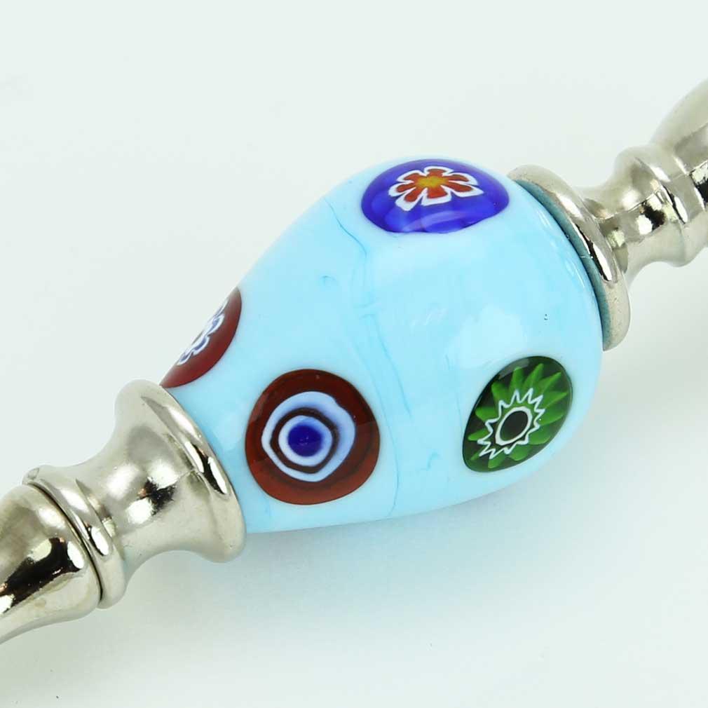 Murano Millefiori Bottle Opener - Aqua