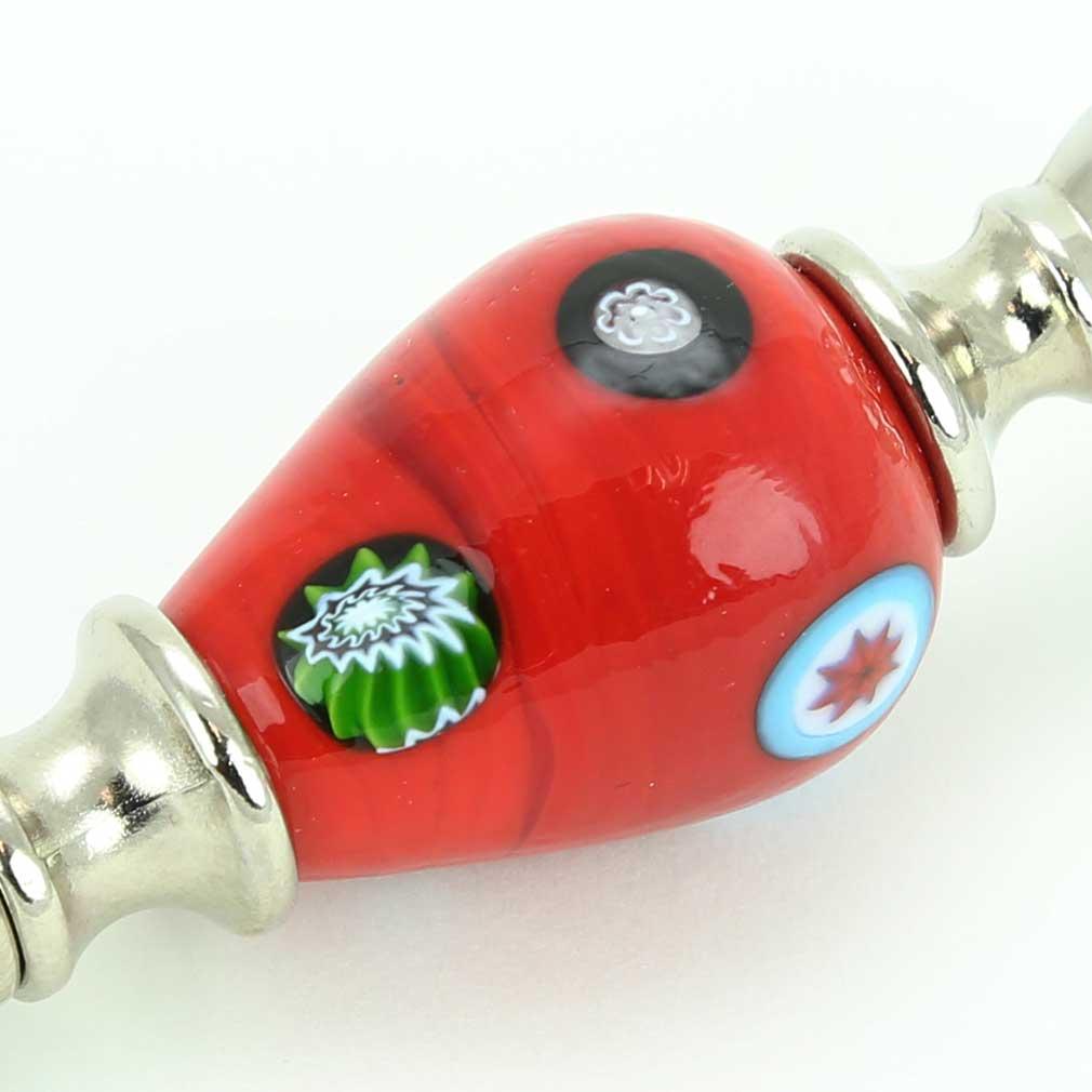 Murano Millefiori Bottle Opener - Red