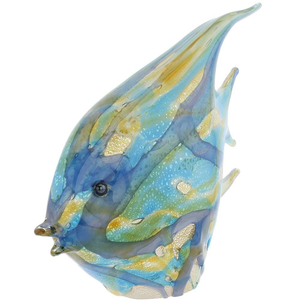Murano Art Glass Shimmering Angel Fish