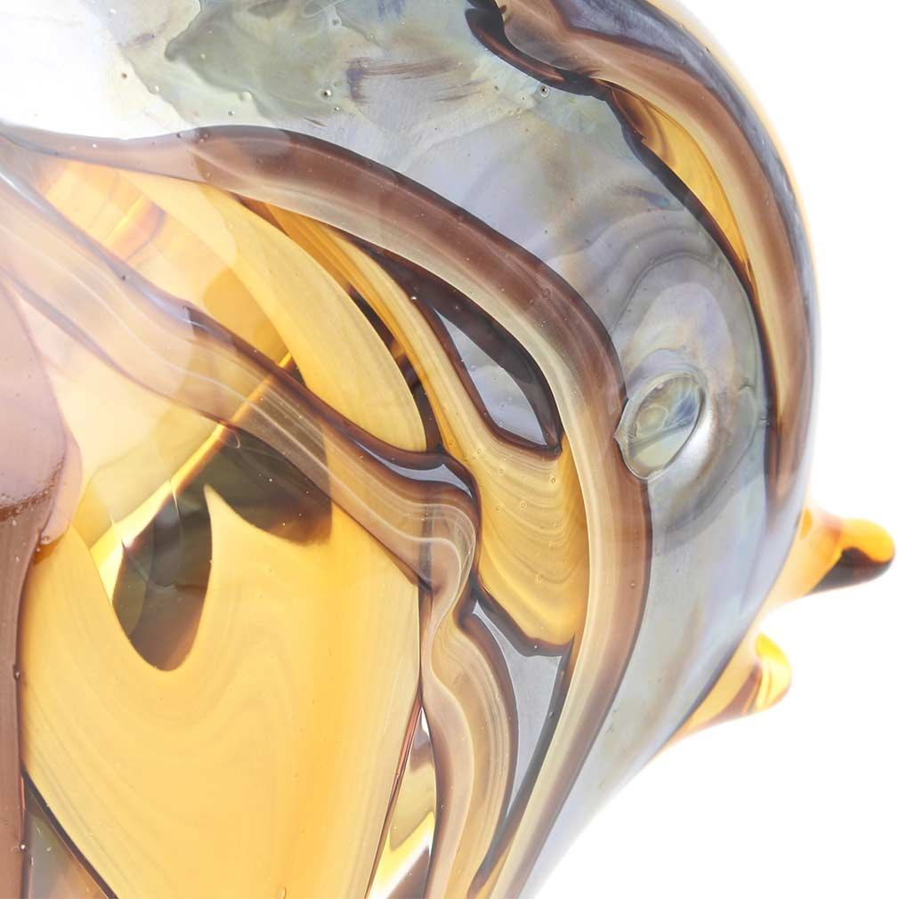 Murano Art Glass Angel Fish - Amber Waves