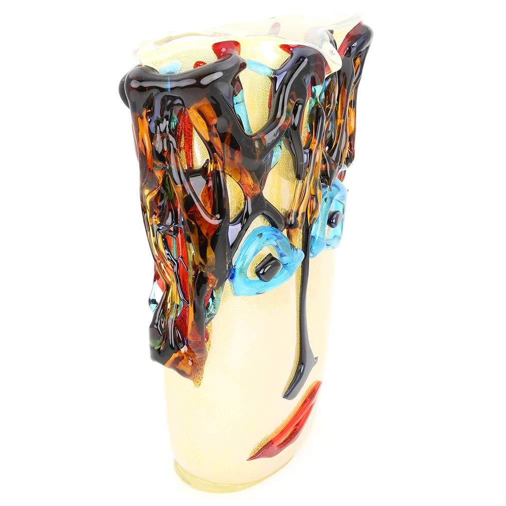 Murano Glass Picasso Head Vase - Tall