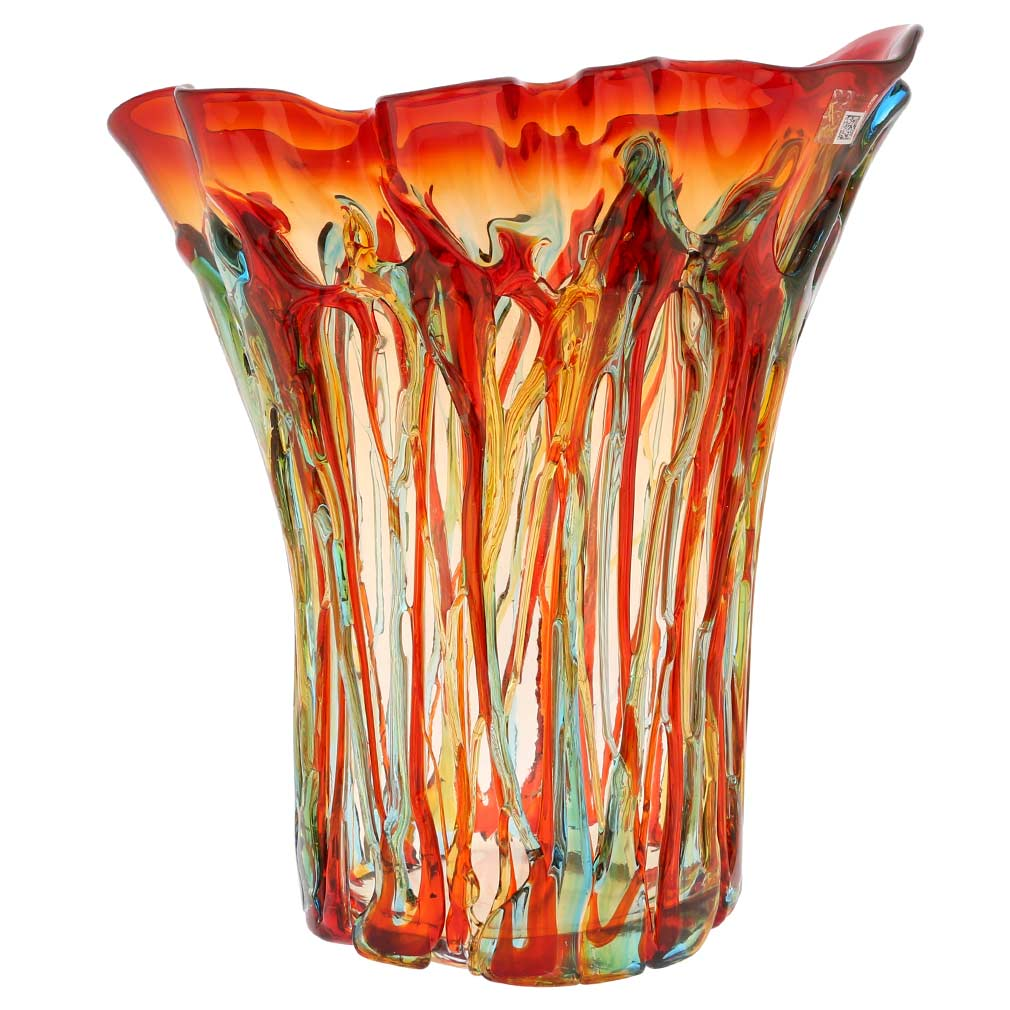 Murano Glass Mars Abstract Art Vase