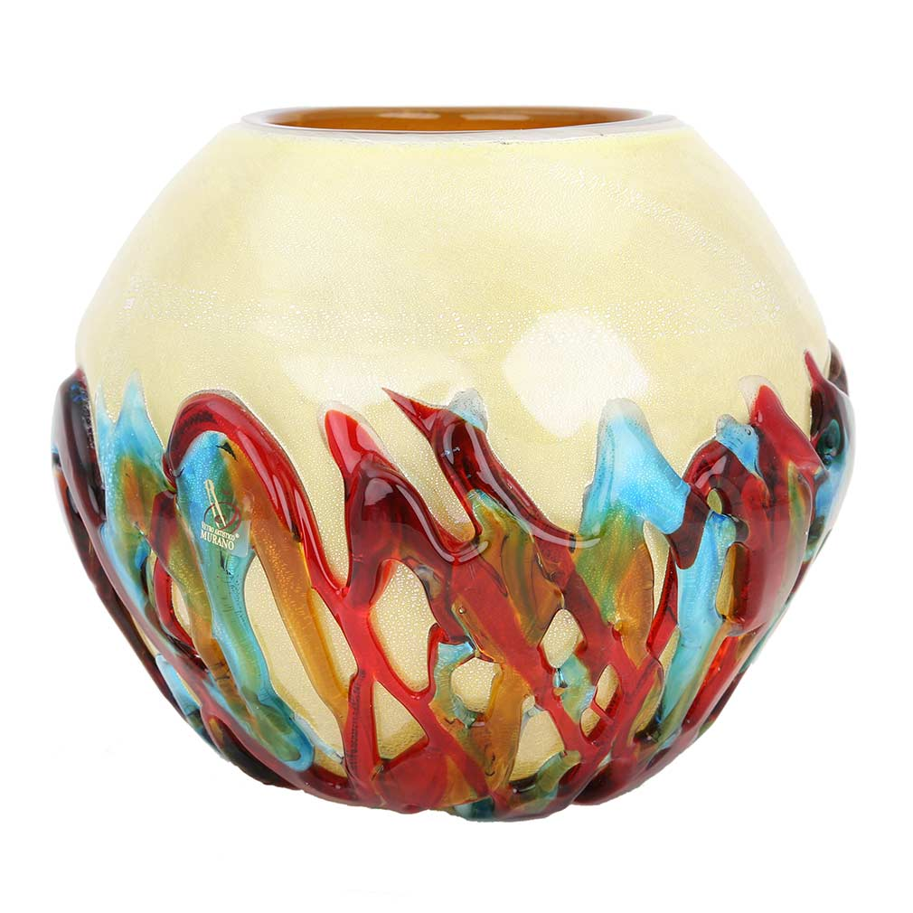 murano glass vases murano glass vesuvio round vase. Black Bedroom Furniture Sets. Home Design Ideas