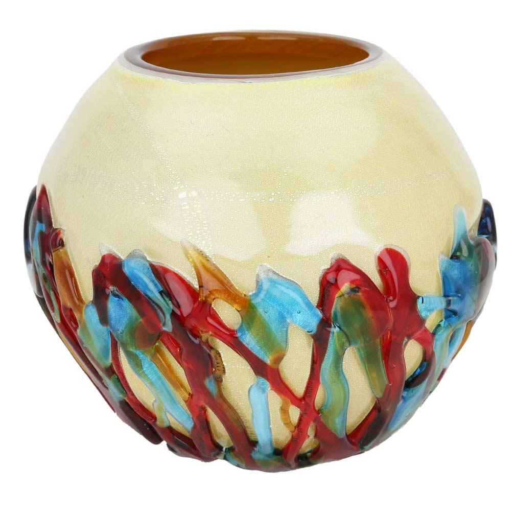 Murano Glass Vesuvio Round Vase