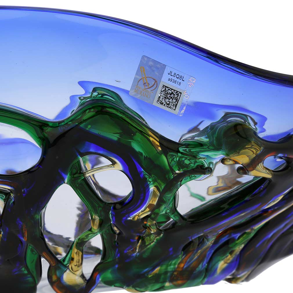 Murano Glass Oceanos Centerpiece Bowl