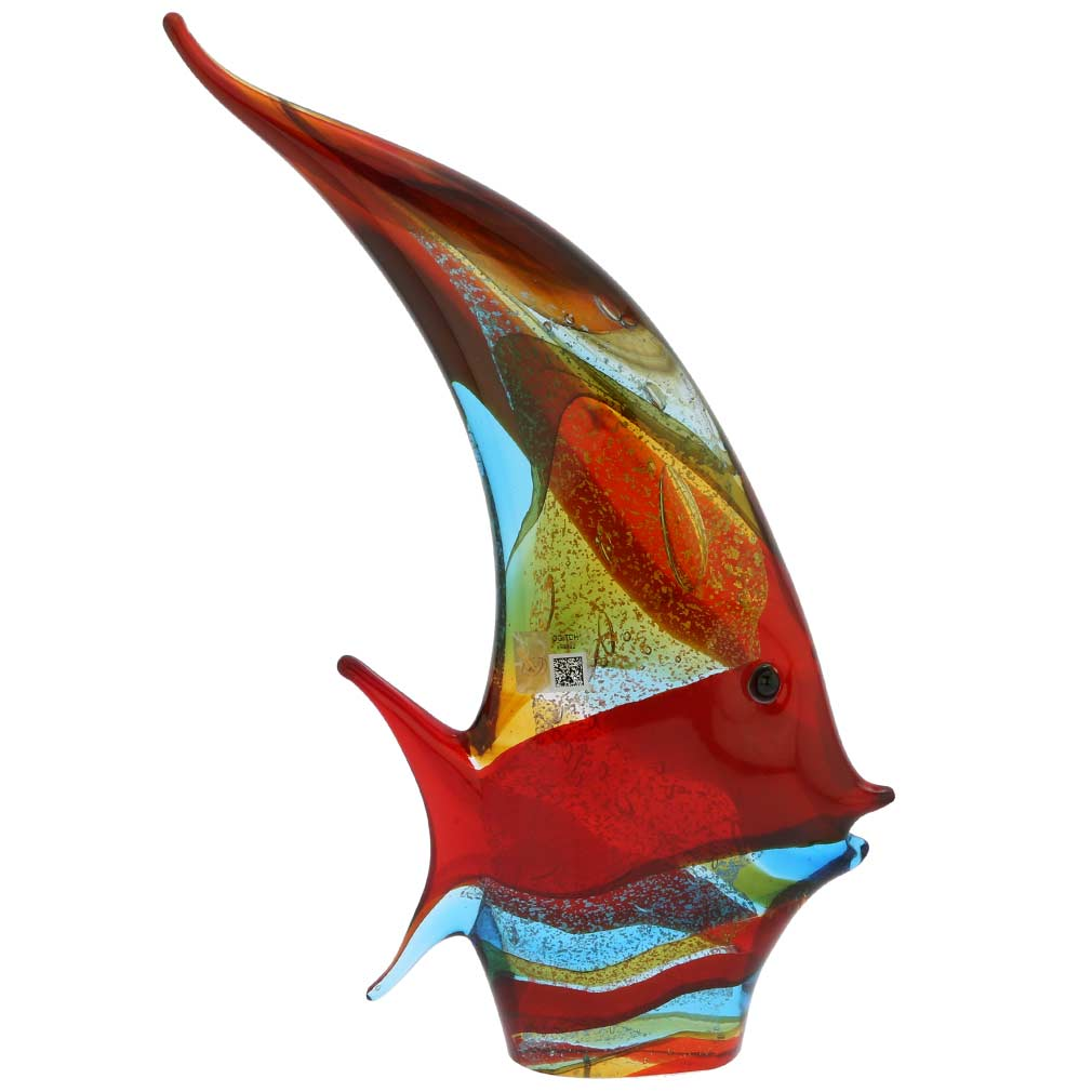 Murano Art Glass Angel Fish - Multicolor