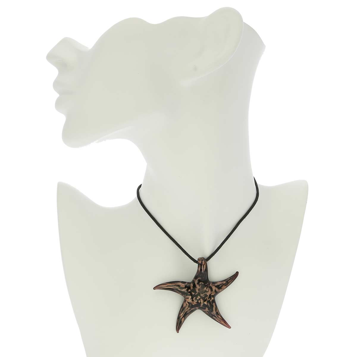 Avventurina Black and Champagne Starfish Pendant
