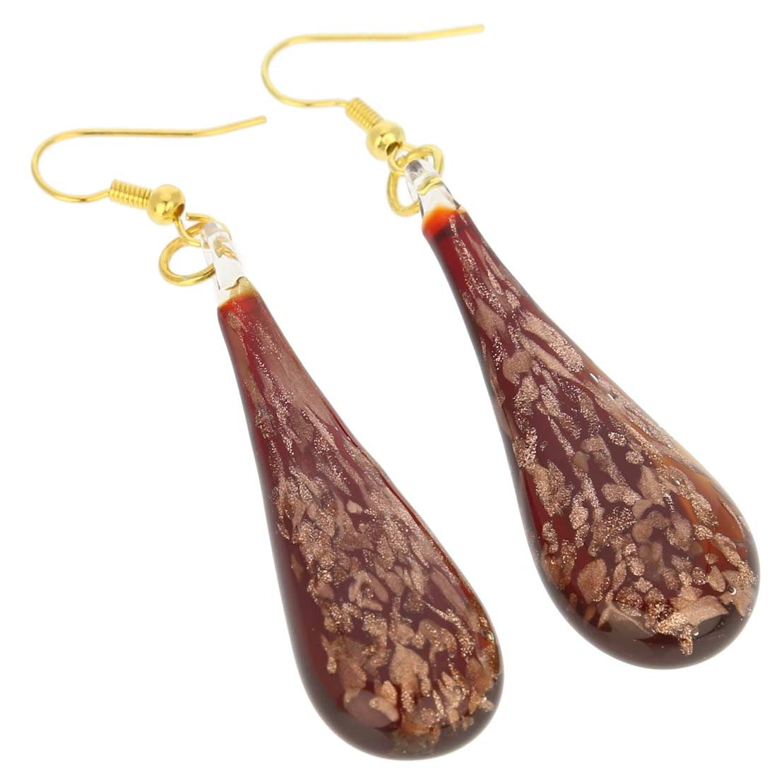 Starlight Icicle Earrings - Red
