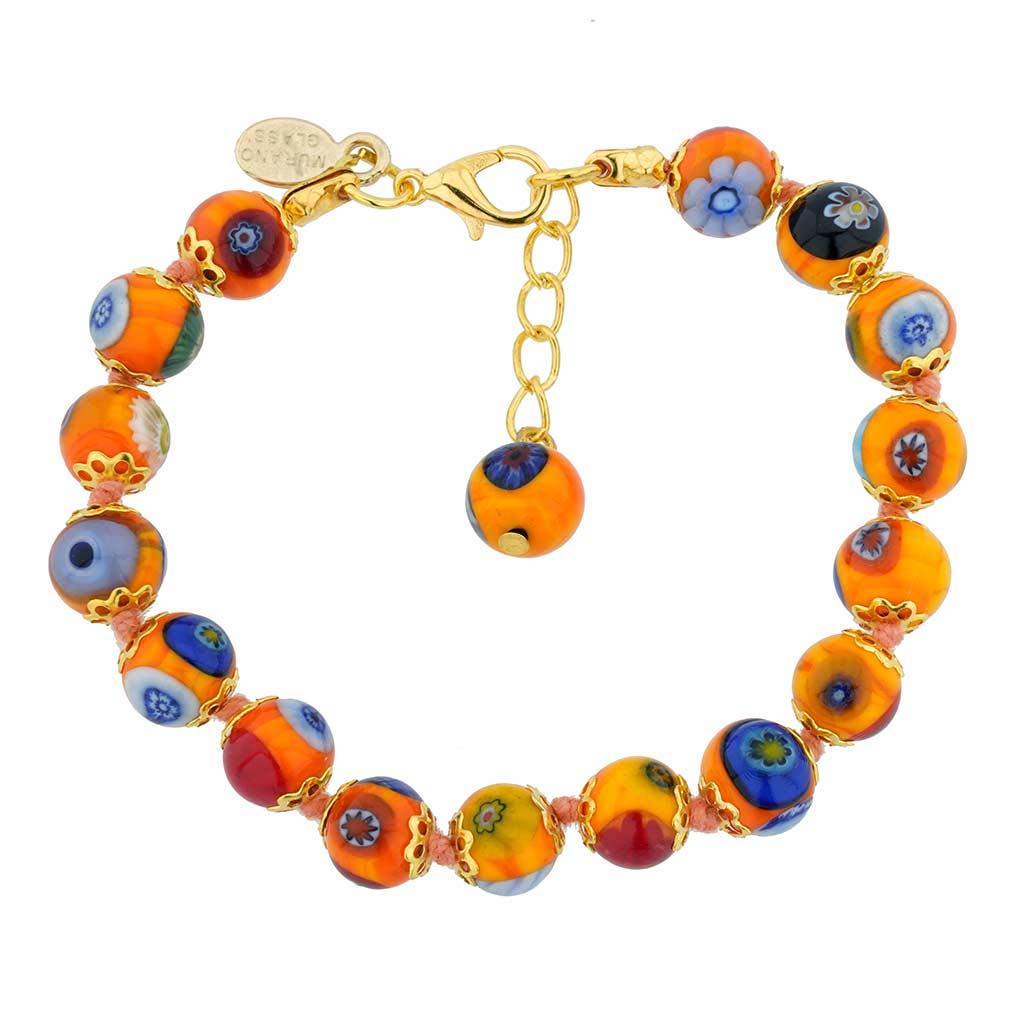 Murano Mosaic Bracelet - Orange