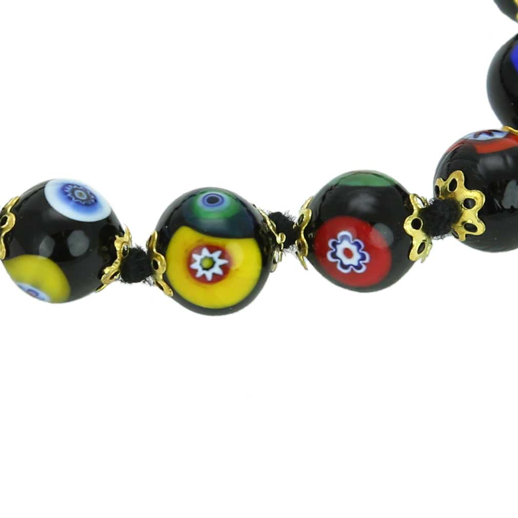 Murano Mosaic Bracelet - Black
