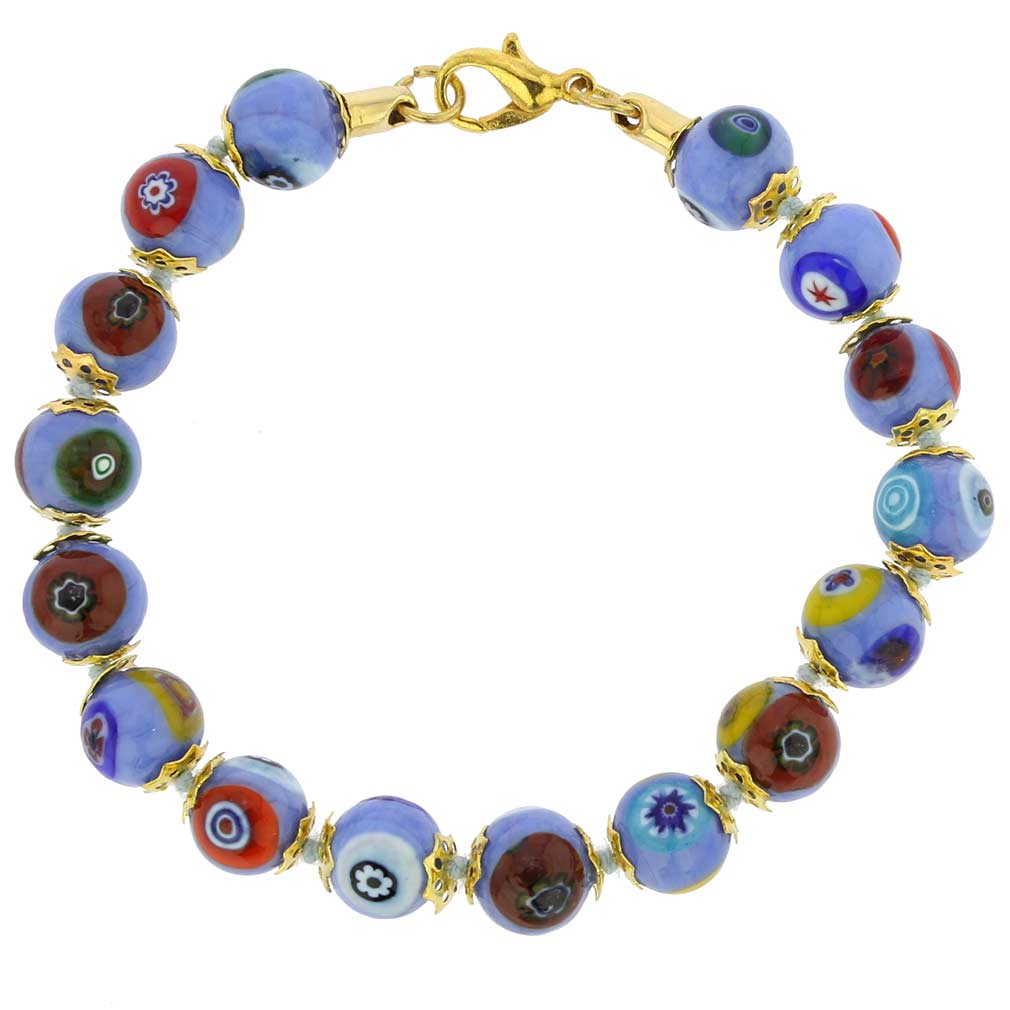 Murano Mosaic Bracelet Periwinkle