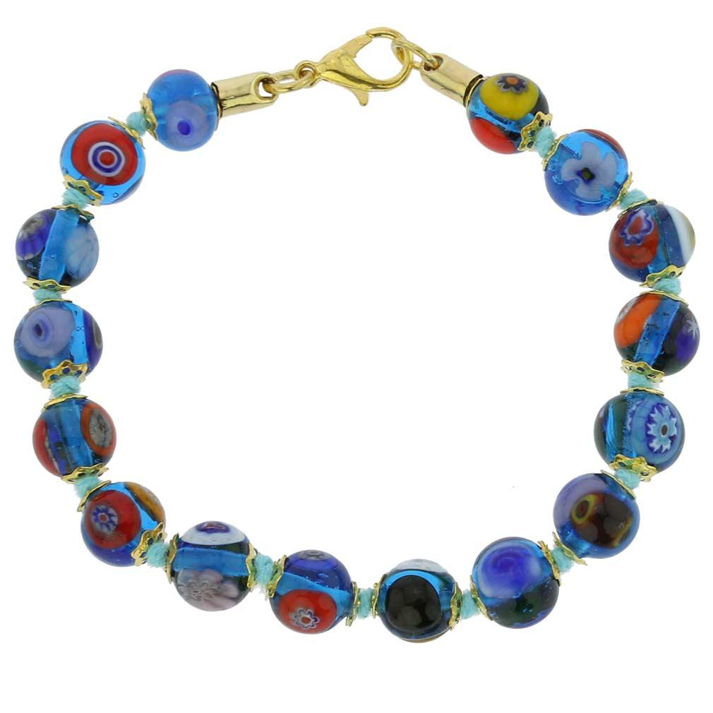 Murano Mosaic Bracelet - Transparent Blue