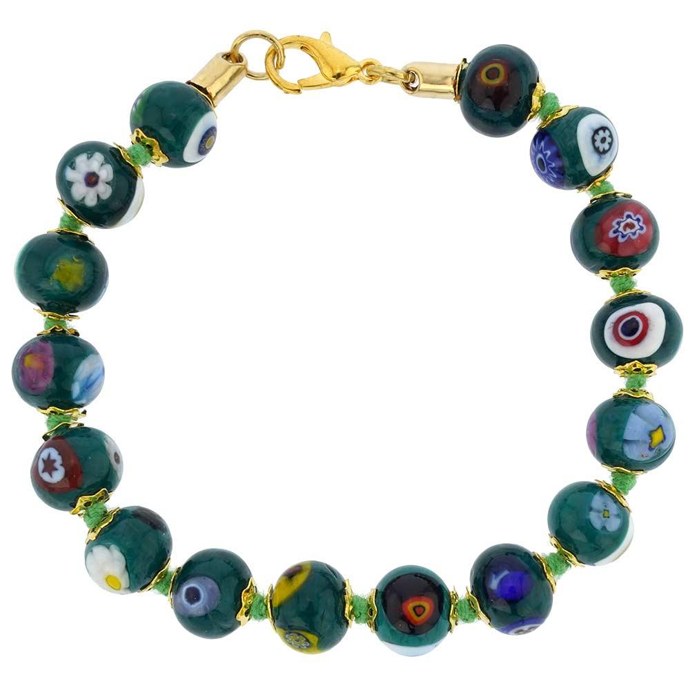 Murano Mosaic Bracelet - Green