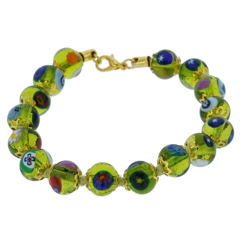Murano Mosaic Bracelet - Transparent Golden Brown