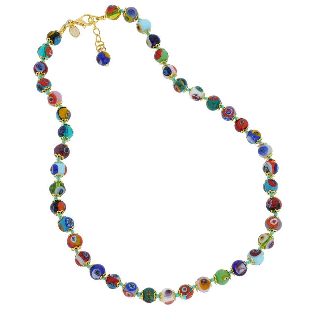 Murano Mosaic Necklace - Multicolor