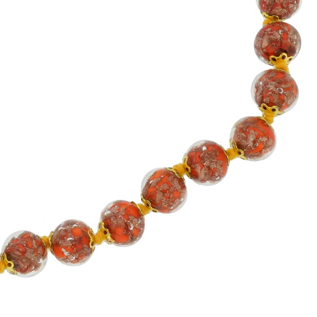 Sommerso Necklace - Orange