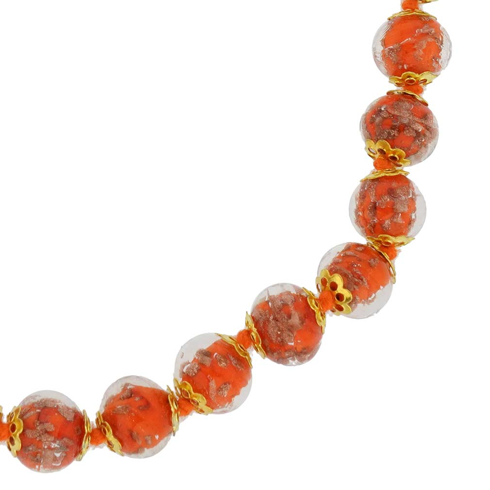 Sommerso Necklace - Orange
