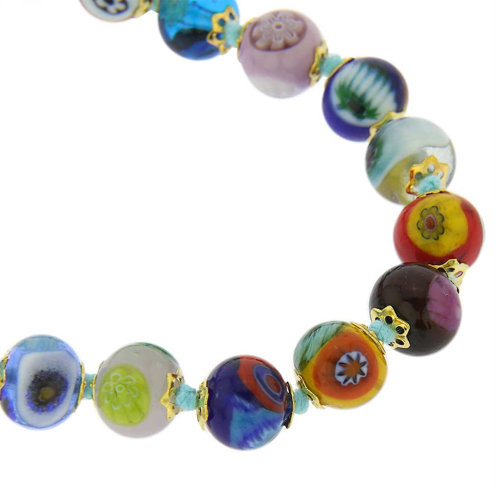 Murano Mosaic Long Necklace - Multicolor