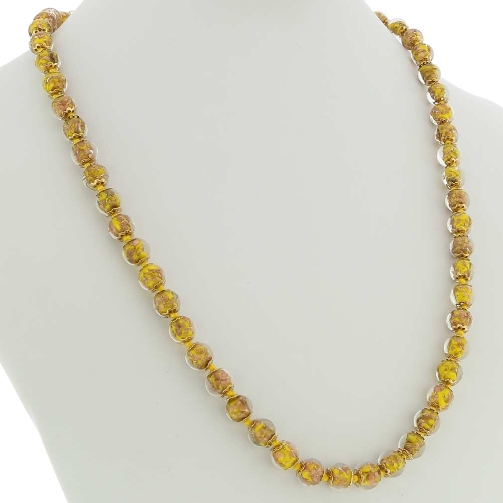 Sommerso Long Necklace - Yellow