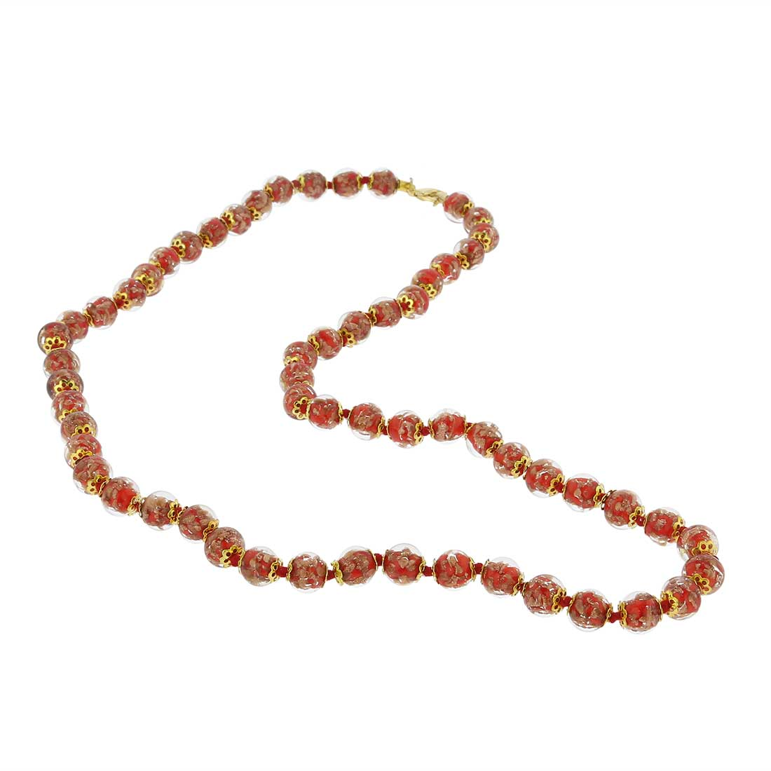 Sommerso Long Necklace - Red
