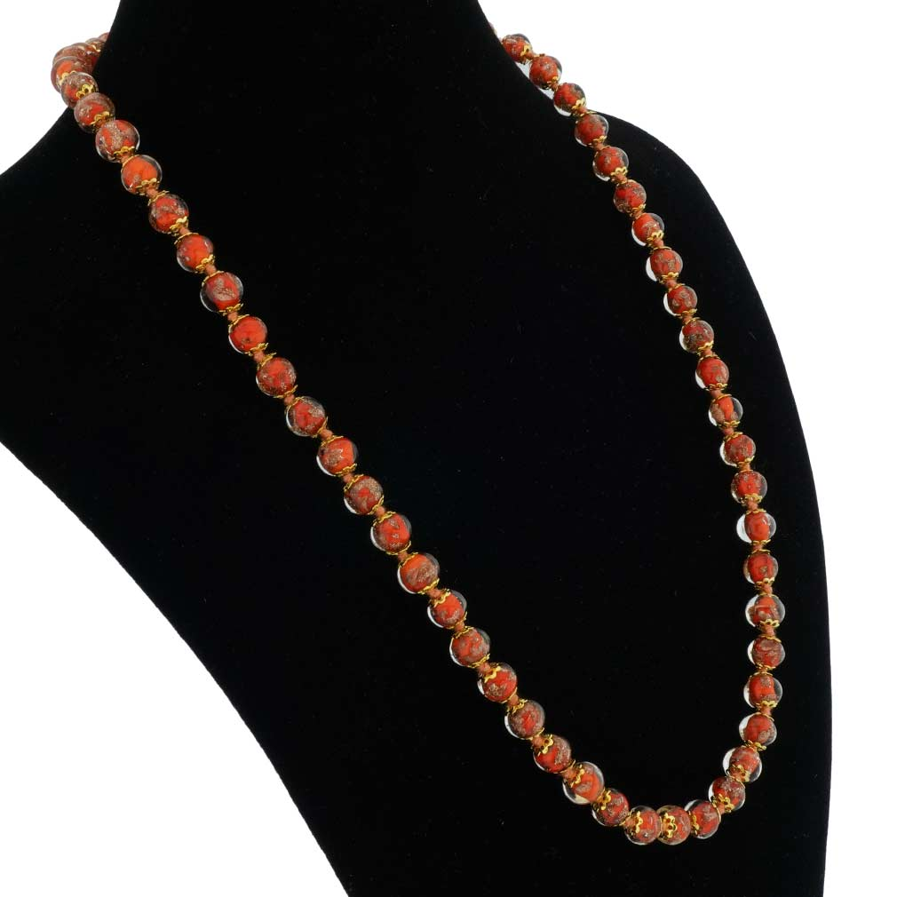 Sommerso Long Necklace - Orange